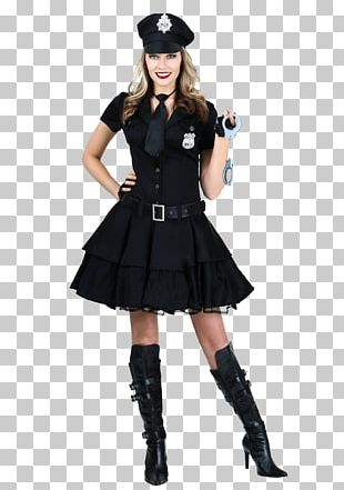 Police Officer Halloween Costume Woman PNG