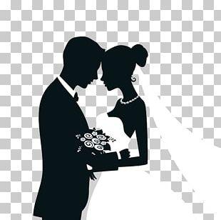 Wedding Invitation Bridegroom Silhouette PNG