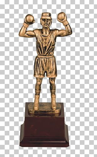 Figurine Trophy Bronze Sculpture Sports Boxing PNG