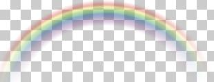 Rainbow Green Sky Pattern PNG