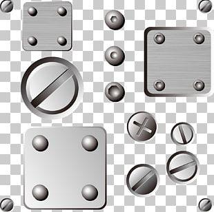 Steel Nut Metal Screw PNG