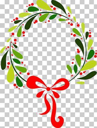 Wreath Garland Flower Christmas Ornament PNG