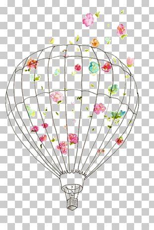 Hot Air Balloon Drawing Scrapbooking PNG