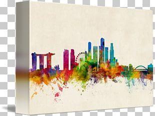 Singapore Canvas Print Art Gallery Wrap PNG