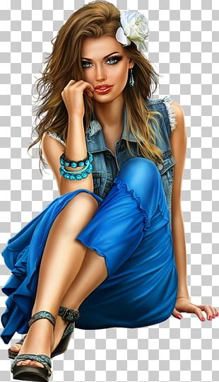 Fashion Illustration Model Woman PNG