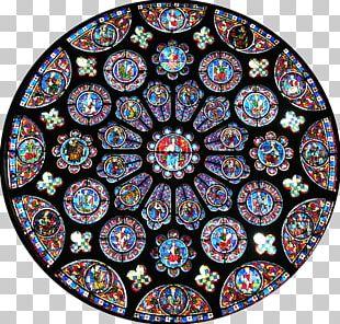 Chartres Cathedral Rose Window Gothic Architecture Notre-Dame De Paris PNG