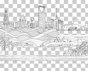 Cityscape Skyline Drawing Sketch PNG