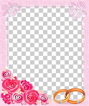 Wedding Invitation Frame PNG