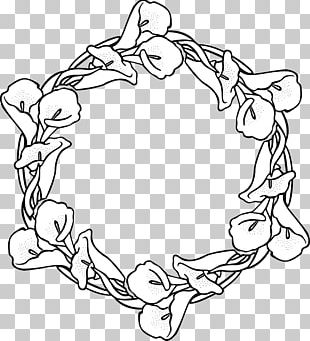 Wreath Garland Coloring Book Drawing PNG