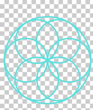 Overlapping Circles Grid Art Symbol Sacred Geometry Graphics PNG