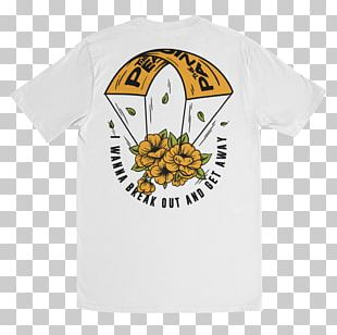 T-shirt Parachute Neck Deep The Peace And The Panic Life's Not Out To Get You PNG