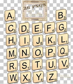 Scrabble Line Brand Material Font PNG