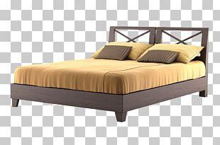 Modern Brown Bed PNG