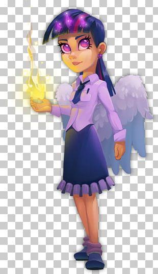 Fairy Illustration Cartoon Figurine Purple PNG