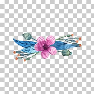 Flower Wreath Watercolor Painting Euclidean Drawing PNG