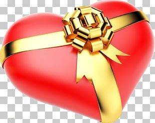 Heart Gift Shape Valentine's Day PNG