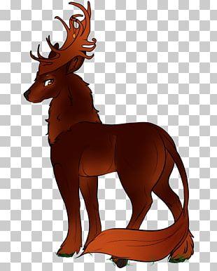 Reindeer Horse Pack Animal Antler PNG