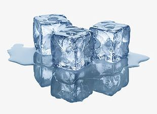 Blue Ice Cubes PNG