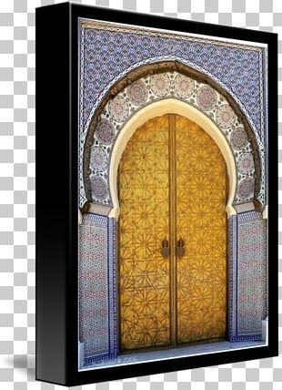 Window Arch Facade Gallery Wrap Canvas PNG