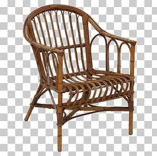 Rocking Chair Wicker Rattan PNG