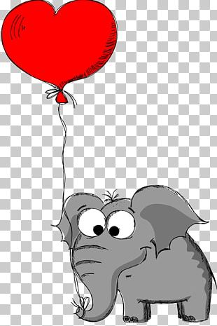 Valentine's Day Elephant Drawing Animal PNG
