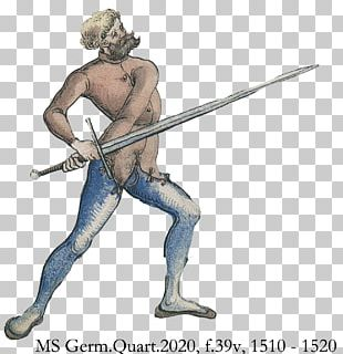 Historical European Martial Arts German School Of Fencing Sword Quarterstaff PNG