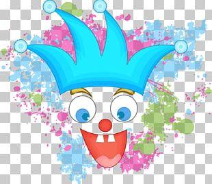 Circus Clown Cartoon Illustration PNG