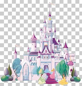 Disney Princess Castle Mural PNG