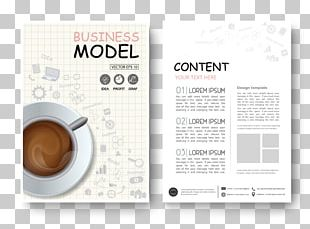Coffee Cafe Magazine Design Flyer PNG