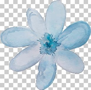 Blue Watercolor Painting Ink PNG