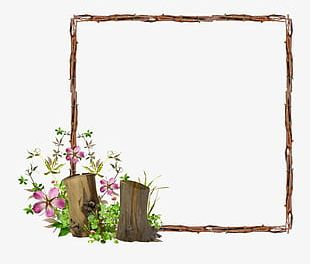 Creative Hand-painted Flowers Beautiful Floral Frame PNG