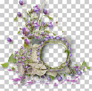 Floral Design Frames Molding Wreath PNG