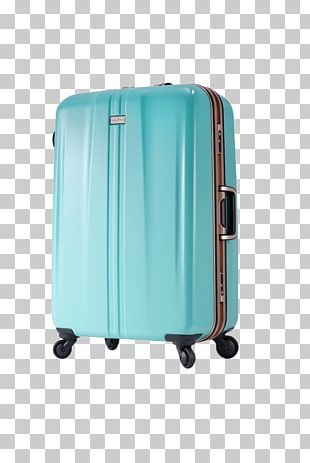 Hand Luggage Blue Baggage Suitcase PNG