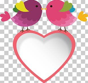 Bird Wedding Invitation Love Kiss PNG