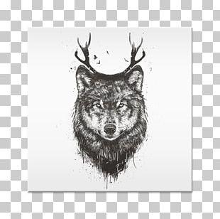 Deer Moose Dog Tapestry Black Wolf PNG