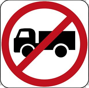 Prohibitory Traffic Sign Truck Large Goods Vehicle PNG