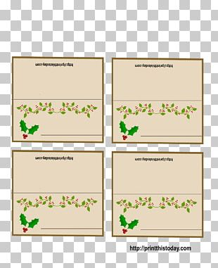 Place Cards Christmas Decoration Holiday Gift PNG