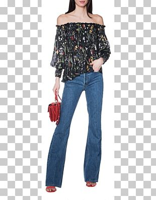 Jeans Shoulder Cobalt Blue Denim Sleeve PNG