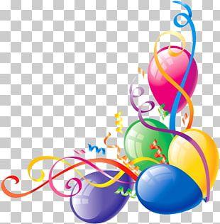 Balloon Birthday Gift PNG