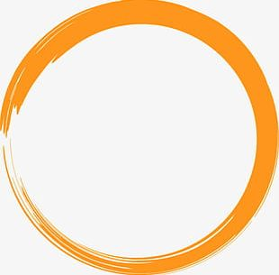 Painted Orange Circle PNG