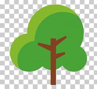 Cartoon Lush Trees PNG
