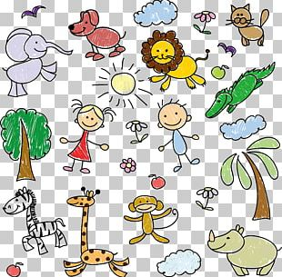 Children's Zoo Poster Background PNG
