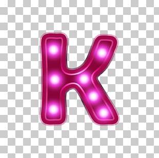 Letter Alphabet K Neon PNG