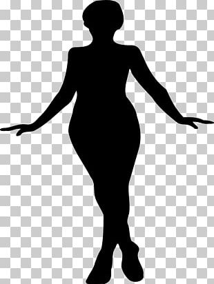 Woman With Large Hat Silhouette PNG