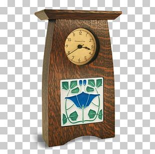 Mission Style Furniture Arts And Crafts Movement Mantel Clock PNG