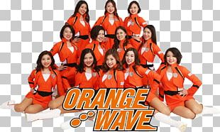 Shimizu S-Pulse ORANGE WAVE Cheerleader Team Sport PNG