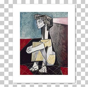 Musée Picasso The Weeping Woman Portrait Of Jacqueline Roque With Her Hands Crossed Painting PNG