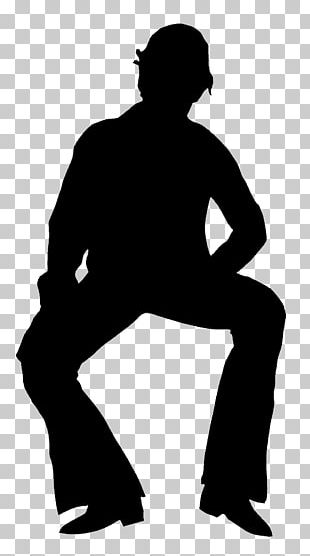 Silhouette Man Child PNG