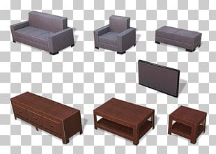 Paper Model Table Furniture Living Room PNG