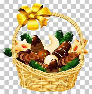 Gift Basket Christmas Hamper PNG